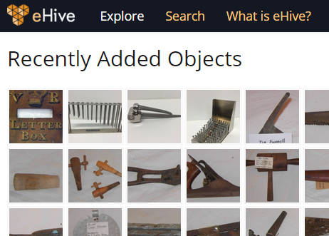 The Explore Recently Added Objects page